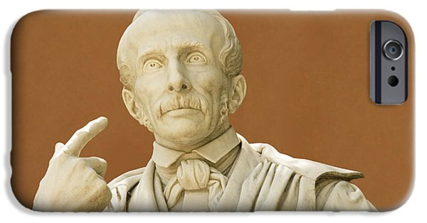 Statue Portrait iPhone Cases - Paolo Savi, Italian Geologist iPhone Case by Sheila Terry