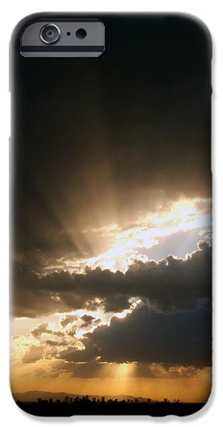 Devil Ray iPhone Cases - Papago Sunset iPhone Case by Anthony Citro