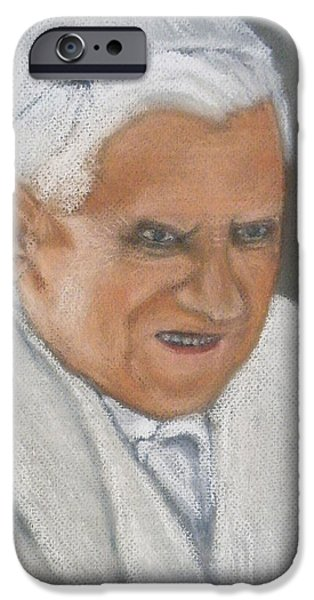 Pope Pastels iPhone Cases - Papal Concern iPhone Case by Gilbert Pennison