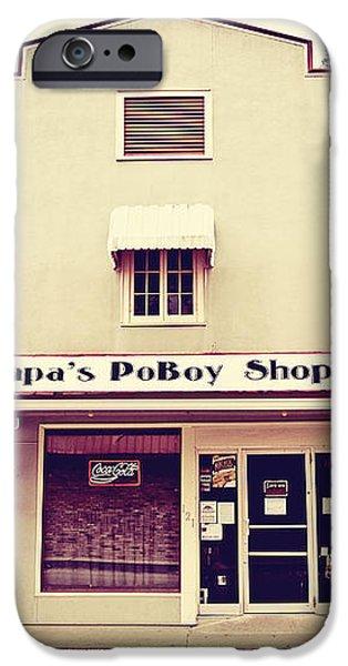 Papa's PoBoy's iPhone Case by Scott Pellegrin