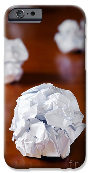 Problems iPhone Cases - Paper Balls iPhone Case by Carlos Caetano