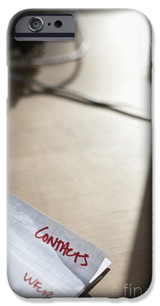 Paperwork on a Desk iPhone Case by Jetta Productions, Inc