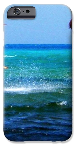 Para surfing in Cozumel Mexico iPhone Case by Danielle  Parent