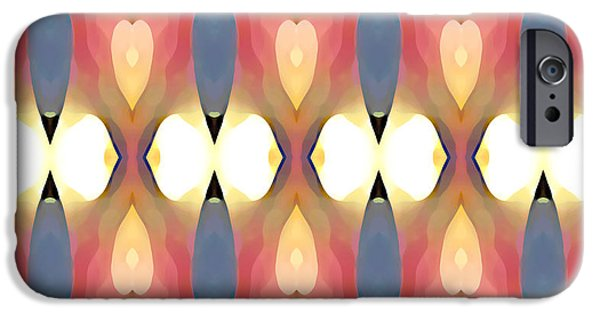 Abstract Forms iPhone Cases - Paradise Repeated iPhone Case by Amy Vangsgard
