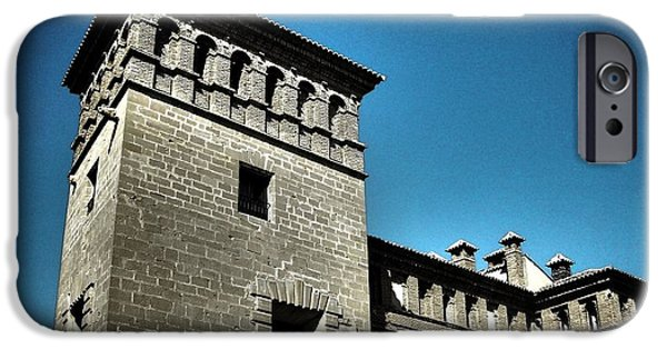 Spanien iPhone Cases - Parador de Alcaniz - Spain iPhone Case by Juergen Weiss