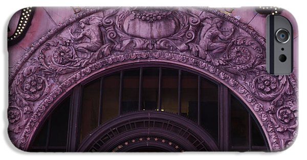 Overhang iPhone Cases - Paramount Theater Times Square II iPhone Case by Lee Dos Santos
