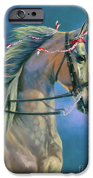 American Saddlebred iPhone Cases - Paranormal iPhone Case by Jeanne Newton Schoborg