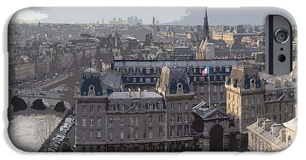 Photo Digital iPhone Cases - Paris 01 iPhone Case by Yuriy  Shevchuk