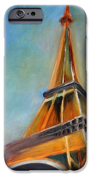 Paris Paintings iPhone Cases - Paris iPhone Case by Jutta Maria Pusl