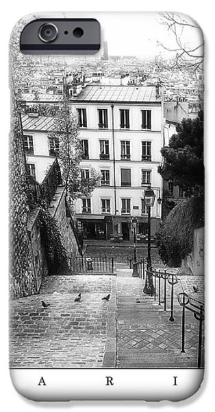 White House Pyrography iPhone Cases - Paris - Montmartre iPhone Case by ARTSHOT  - Photographic Art