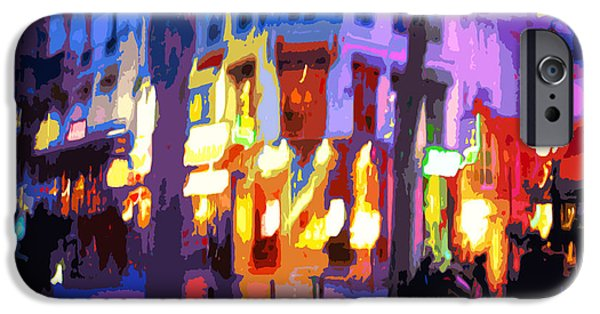 Abstract Digital Art iPhone Cases - Paris Quartier Latin 02 iPhone Case by Yuriy  Shevchuk