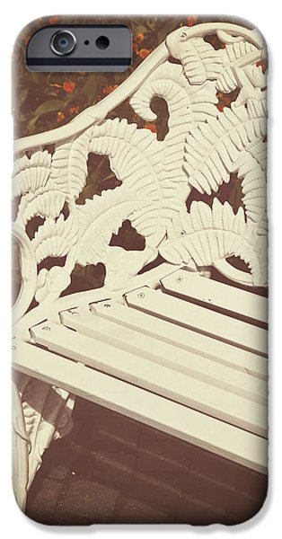 Park Benches iPhone Cases - Park Bench iPhone Case by Joana Kruse