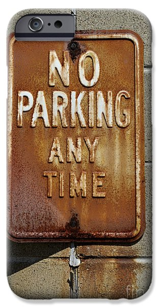 Park Here iPhone Case by Luke Moore