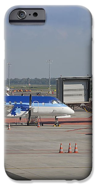 Parked Airplane at an Airport Gate iPhone Case by Jaak Nilson