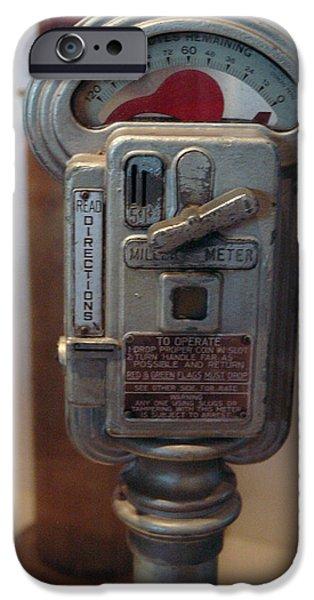 Smithsonian Museum iPhone Cases - Parking Meter Change iPhone Case by LeeAnn McLaneGoetz McLaneGoetzStudioLLCcom