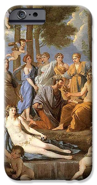 Parnassus, Apollo And The Muses, 1635 iPhone Case by Photo Researchers