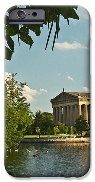 Parthenon at Nashville Tennessee 10 iPhone Case by Douglas Barnett