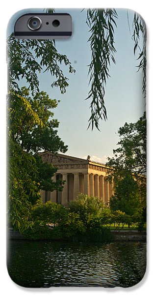Willow Lake iPhone Cases - Parthenon at Nashville Tennessee 11 iPhone Case by Douglas Barnett