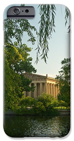 Willow Lake iPhone Cases - Parthenon at Nashville Tennessee 12 iPhone Case by Douglas Barnett