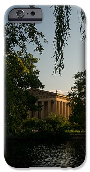Willow Lake iPhone Cases - Parthenon at Nashville Tennessee 14 iPhone Case by Douglas Barnett
