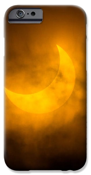 Partial Solar Eclipse Through Fog iPhone Case by Greg Nyquist