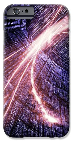 Digitally Created iPhone Cases - Particle Accelerator iPhone Case by Richard Kail