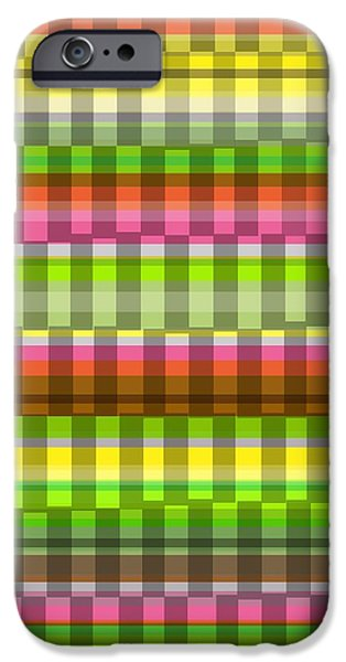 Party Stripe iPhone Case by Louisa Knight