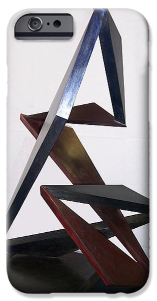 Abstract Movement Sculptures iPhone Cases - Paso Doble iPhone Case by John Neumann