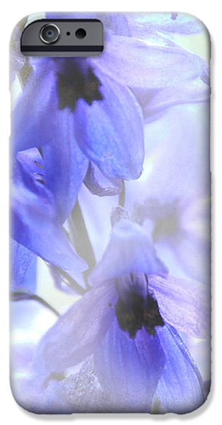Passion for Flowers. blue Dreams iPhone Case by Jenny Rainbow