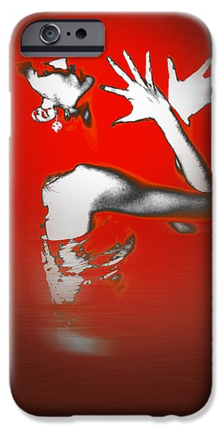 Earrings iPhone Cases - Passion in Red iPhone Case by Naxart Studio