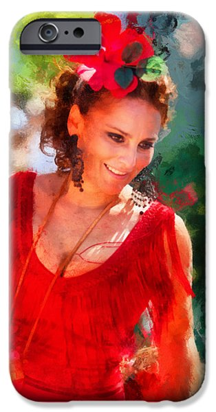 Passionate Gypsy Blood. Flamenco Dance iPhone Case by Jenny Rainbow