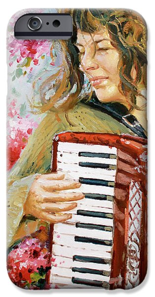 Keyboard Paintings iPhone Cases - Passionate Player iPhone Case by Conor McGuire