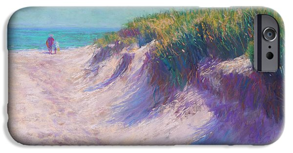 Pink Pastels iPhone Cases - Past the Dunes iPhone Case by Michael Camp