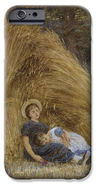 Nineteenth iPhone Cases - Past Work iPhone Case by Helen Allingham