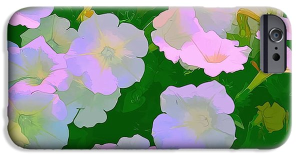 Artistic Photography iPhone Cases - Pastel flowers iPhone Case by Tom Prendergast