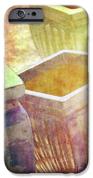 Pastel Pottery iPhone Case by Susanne Van Hulst