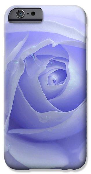 Pastel Purple Rose Flower iPhone Case by Jennie Marie Schell