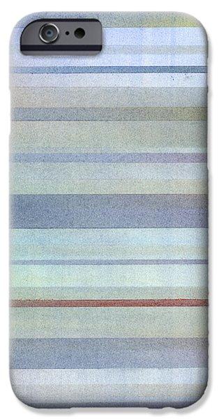 Expressionism Pastels iPhone Cases - Pastel Stripes iPhone Case by Hakon Soreide