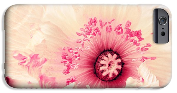 Flora Mixed Media iPhone Cases - Pastell poppy iPhone Case by Angela Doelling AD DESIGN Photo and PhotoArt