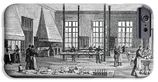 Biochemist iPhone Cases - Pasteur Institute, 19th Century iPhone Case by