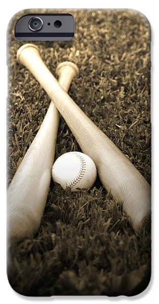Baseball iPhone Cases - Pastime iPhone Case by Shawn Wood