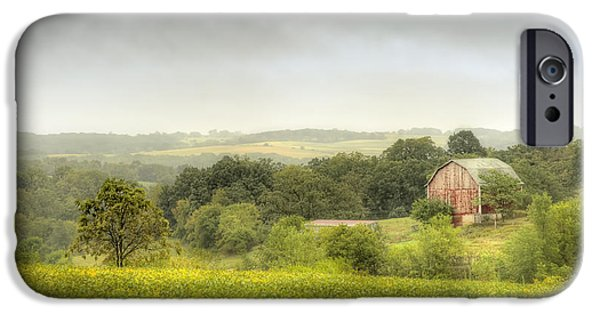 Barns Photographs iPhone Cases - Pastoral Barn iPhone Case by Scott Norris
