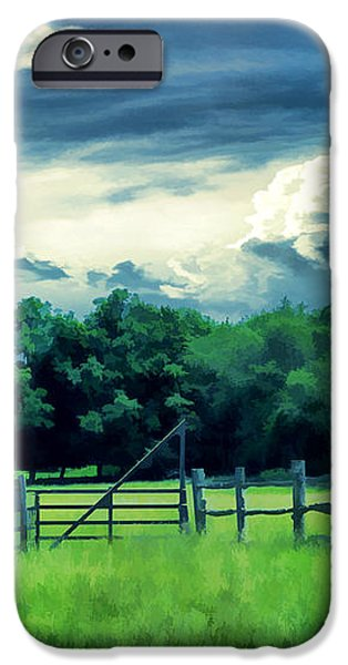 Pastoral Greenery iPhone Case by Lourry Legarde