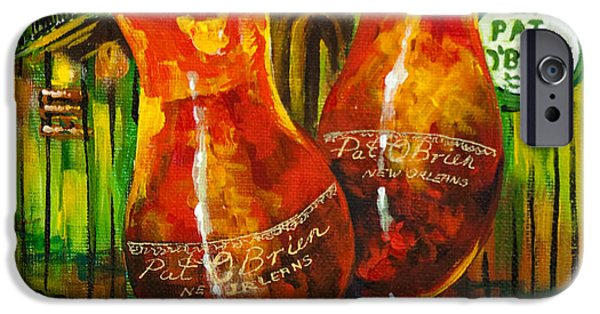 French Quarter Paintings iPhone Cases - Pat OBriens Hurricanes iPhone Case by Dianne Parks