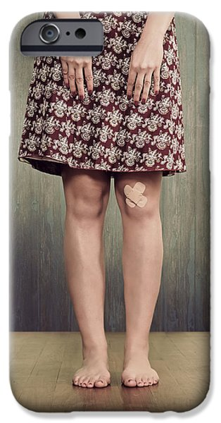 Wounded iPhone Cases - Patches iPhone Case by Joana Kruse
