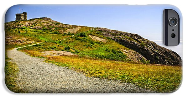 Cabot iPhone Cases - Path to Cabot Tower on Signal Hill iPhone Case by Elena Elisseeva