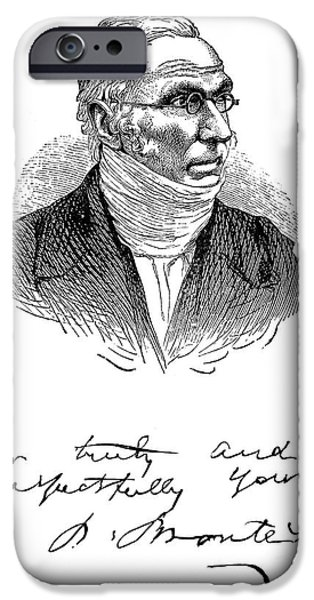 PATRICK BRONT� (1777-1861) iPhone Case by Granger