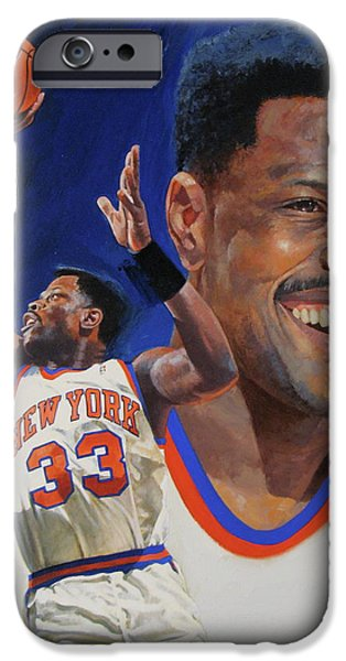 Patrick Ewing iPhone Case by Cliff Spohn