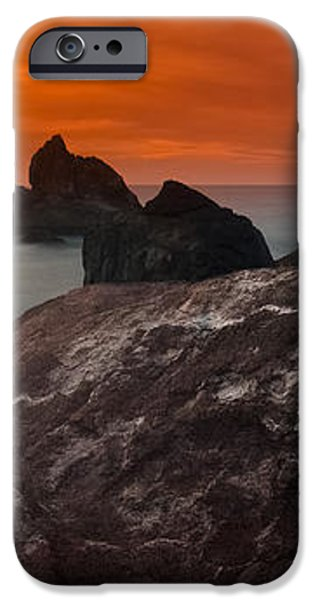 Patrick's Point Dusk Panorama iPhone Case by Greg Nyquist