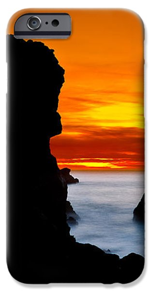Patrick's Point Silhouette iPhone Case by Greg Nyquist